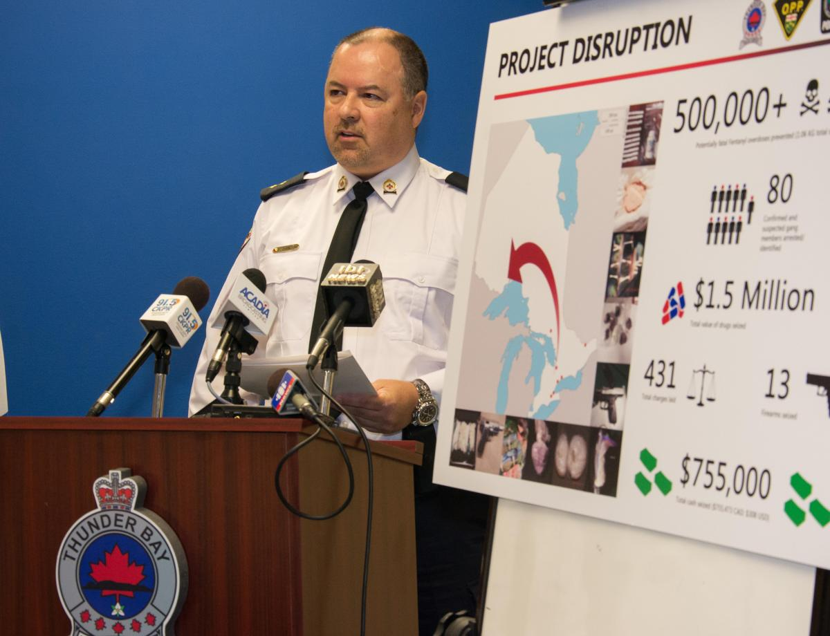 Police on Project Disruption